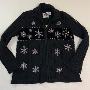 Storybook Knits Christmas Snowflake Sweater M